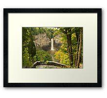 Finger Lakes Falls Framed Print