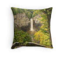 Finger Lakes Falls Throw Pillow