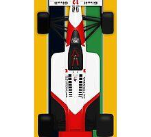 Ayrton Senna - McLaren Honda MP4/4 Top view  by JageOwen