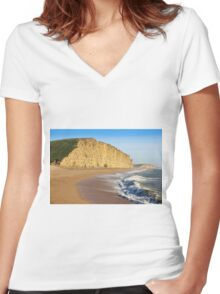 West Bay Dorset  Broadchurch - 1 Women's Fitted V-Neck T-Shirt
