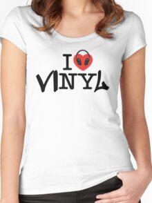 I LOVE viNYl Women's Fitted Scoop T-Shirt