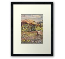 Last Day in the Meadow  Framed Print