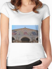 Jerusalem the facade of Church of all Nations Women's Fitted Scoop T-Shirt
