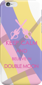 Keep Calm - And Believe in Double Moon Iphone Cases by SimplySM