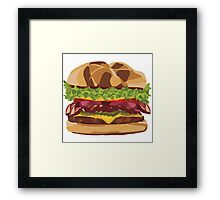 Burger with The Lot Framed Print