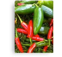 Spicy Chili's  Canvas Print