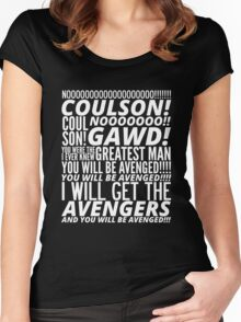 Coulson Nooooo! Women's Fitted Scoop T-Shirt