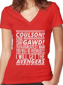 Coulson Nooooo! Women's Fitted V-Neck T-Shirt