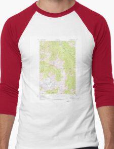 USGS Topo Map Washington State WA Mount Olympus 242517 1956 62500 Men's Baseball ¾ T-Shirt