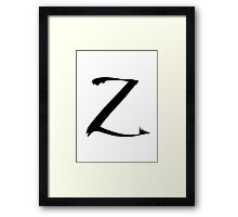 The Letter Z Framed Print