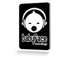 Babyface Recordings Logo Greeting Card