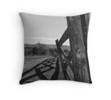 Fence Shadow Throw Pillow