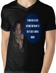 Doctor Who Jammie Dodger Self Destruct Button Mens V-Neck T-Shirt