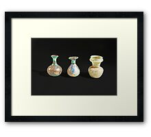 Roman glass bottles and jar 4th century CE  Framed Print