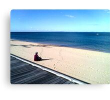 zen (beach)  Canvas Print