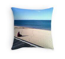 zen (beach)  Throw Pillow