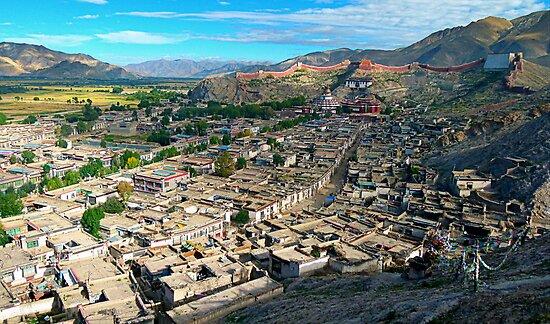 Ancient Town of Gyantse  by Brian Bo Mei