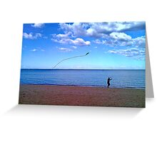 high (as a kite)  Greeting Card