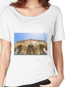 Jerusalem the facade of Church of all Nations Women's Relaxed Fit T-Shirt