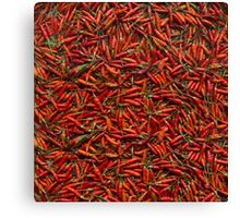 Drying Red Hot Chili Peppers Canvas Print