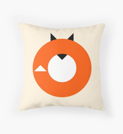 A Most Minimalist Fox Throw Pillow