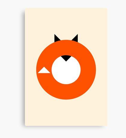 A Most Minimalist Fox Canvas Print