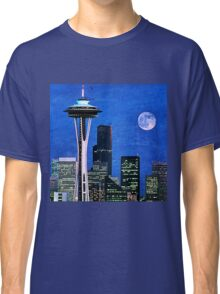 Blue Seattle Space Needle Classic T-Shirt