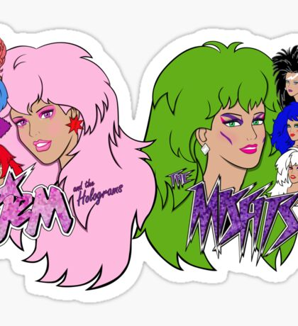 Jem and the Holograms Vs The Misfits Sticker