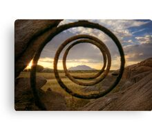Spring Loaded Sunset Canvas Print