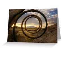 Spring Loaded Sunset Greeting Card