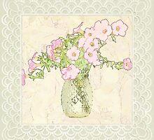 Petunia Art - Digital Watercolor by Sandra Foster