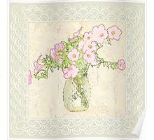 Petunia Art - Digital Watercolor Poster
