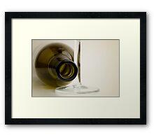 Wine Bottle Framed Print