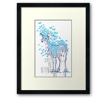 Life is Strange- Watercolor Butterfly Doe  Framed Print