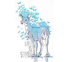 Life is Strange- Watercolor Butterfly Doe  Photographic Print