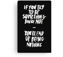 BEING NOTHING Canvas Print
