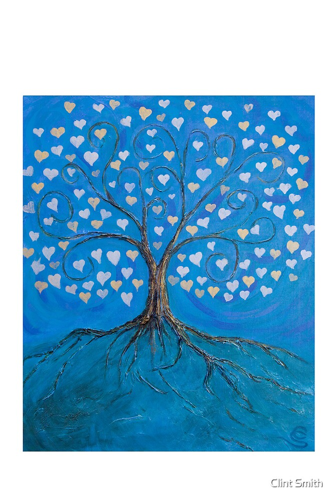 Tree of Life ( heart leaves ) by Clint Smith