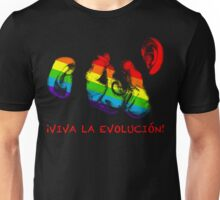 viva la evolucion! rainbow chimps Unisex T-Shirt