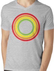retro rainbow circles Mens V-Neck T-Shirt