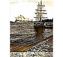Drawing by Apple iPhone...The Opera House Photographic Print
