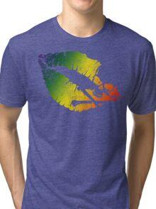 rainbow poison lips Tri-blend T-Shirt