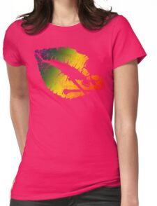 rainbow poison lips Womens Fitted T-Shirt