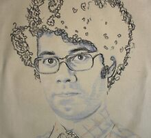 richard ayoade as maurice moss by Peter Brandt