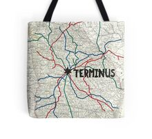 The Walking Dead - Terminus Map Tote Bag