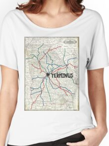 The Walking Dead - Terminus Map Women's Relaxed Fit T-Shirt