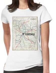 The Walking Dead - Terminus Map Womens Fitted T-Shirt