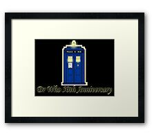 Dr Who 50th Anniversary Framed Print