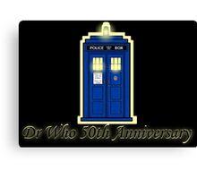 Dr Who 50th Anniversary Canvas Print