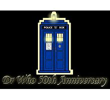 Dr Who 50th Anniversary Photographic Print