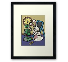 Teddy Bear And Bunny - It's All Fun And Games Framed Print